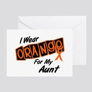 I Wear Orange For My Aunt 8 Greeting Card