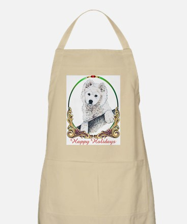 Samoyed Puppy Holiday BBQ Apron