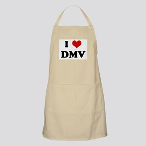 I Love DMV BBQ Apron