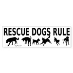 Rescue Dogs Rule Shadow Dogs Sticker (Bumper 50 pk