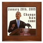 Obama Inauguration Framed Tile