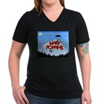 Rising Stars Theatre Women's V-Neck Dark T-Shirt