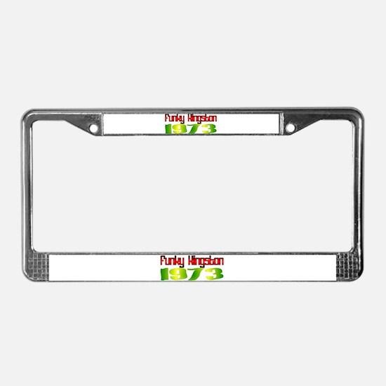 Funky Kingston 1973 License Plate Frame