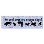 Best Dogs Are Rescues Bumper Sticker (10 pk)