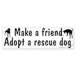 Adopt A Rescue Bumper Sticker (10 pk)