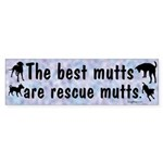 Best Mutts Are Rescues Bumper Sticker (50 pk)