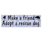 Adopt A Rescue Dog Bumper Sticker (10 pk)
