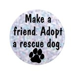 """Adopt A Rescue Dog 3.5"""" Button (100 pack)"""