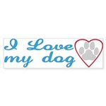 I Love My Dog Bumper Sticker (50 pk)