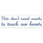 Touch Your Heart v4 Bumper Sticker (10 pk)