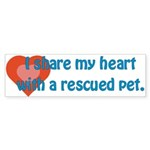 I Share My Heart Bumper Sticker (10 pk)
