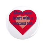 """Share Your Heart 3.5"""" Button (100 pack)"""