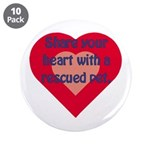 """Share Your Heart 3.5"""" Button (10 pack)"""