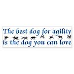 Best Dog For Agility Bumper Sticker (50 pk)