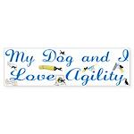 I Love Agility Bumper Sticker (10 pk)