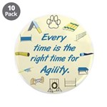 """Agility Time v 2 3.5"""" Button (10 pack)"""