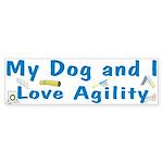 I Love Agility 2 Bumper Sticker (50 pk)