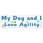 I Love Agility 2 Bumper Sticker (10 pk)