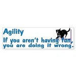 Have Fun in Agility Bumper Sticker (10 pk)