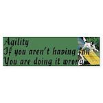 Agility Fun! Bumper Sticker (50 pk)