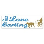 I Love Carting Bumper Sticker (50 pk)
