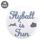 """Flyball is Fun 3.5"""" Button (10 pack)"""