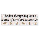 Best Therapy Dog Bumper Sticker (10 pk)
