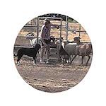 """Herding Dog Art 3.5"""" Button"""