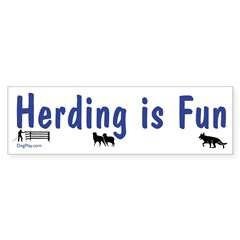 Herding is Fun Bumper Sticker (10 pk)
