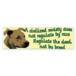 Civilized Society Against BSL Sticker (Bumper 10 p