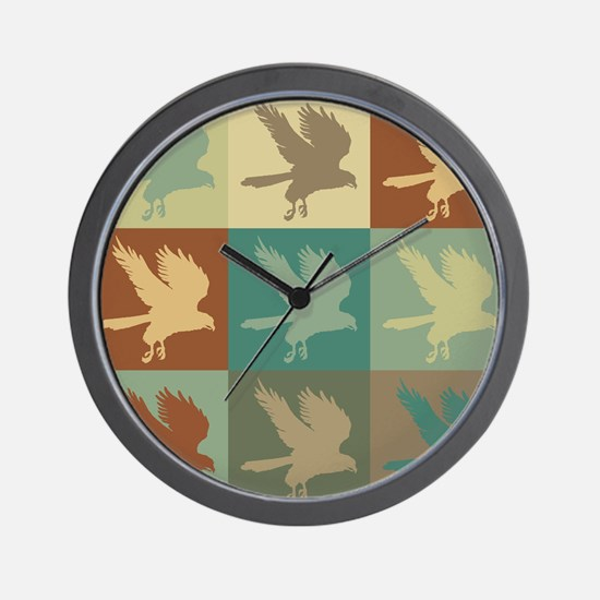 Falconry Pop Art Wall Clock