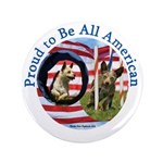 "Chewie and Lucky Flag 3.5"" Button (100 pack)"