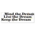 Live the Dream Bumper Sticker (10 pk)