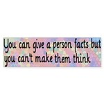 Give Facts Bumper Sticker (50 pk)