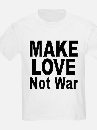 Make Love Not War (Front) Kids T-Shirt