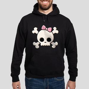 Cute Skull Girl Hoodie (dark)