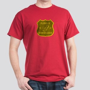 Plumber Drinking League Dark T-Shirt