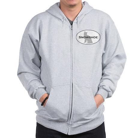 Snowshoe Oval Zip Hoodie