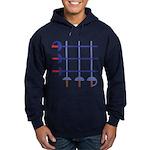 Fencing Sword Grid Hoodie (dark)