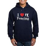 I Love Fencing Hoodie (dark)