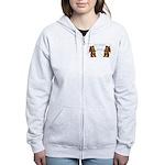 Teddy Bear Fencers Women's Zip Hoodie