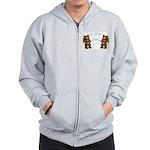 Teddy Bear Fencers Zip Hoodie