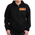 Orange Fencer's Thrust Zip Hoodie (dark)
