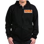 Orange Fencer's Thrust Zip Hoodie (dark)