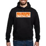 Orange Fencer's Thrust Hoodie (dark)
