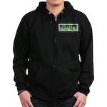 Green Thrust Zip Hoodie (dark)