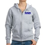 Blue Fencing Thrust Women's Zip Hoodie