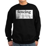 Fencing Definition Sweatshirt (dark)