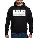 Fencing Definition Hoodie (dark)