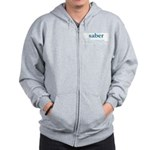 Saber Fencing Definition Zip Hoodie